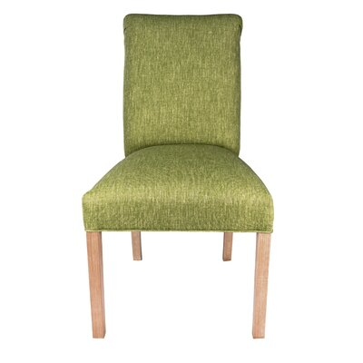 Side Chair Frame Color: Natural, Upholstery: Key-Largo Green
