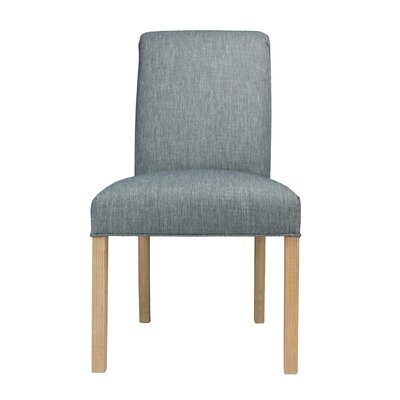 Side Chair Frame Color: Natural, Upholstery: Key-Largo Ash