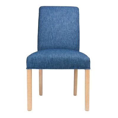 Parsons Chair Frame Color: Natural, Upholstery: Key-Largo Denim