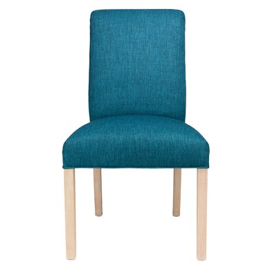 Side Chair Frame Color: Natural, Upholstery: Luck Zenith Teal