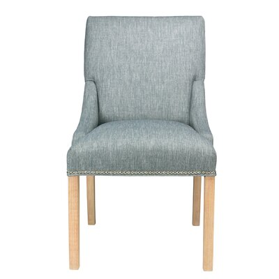 Maire Parsons Chair Finish: Natural, Upholstery: Ash