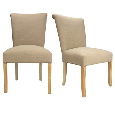Barcelona Key Largo Spring Seating Double Dow Upholstered Side Chair Finish: Natural, Upholstery: Pebble