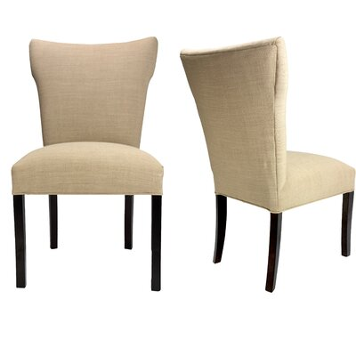 Marquita Allure Pebble Spring Seating Double Dow Upholstered Parsons Chair Upholstery: Pebble
