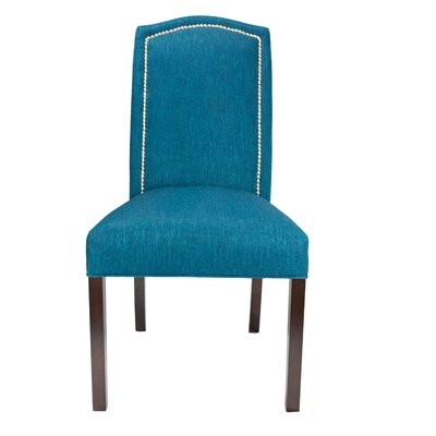 Vaughn Side Chair Finish: Espresso, Upholstery: Zenith Teal