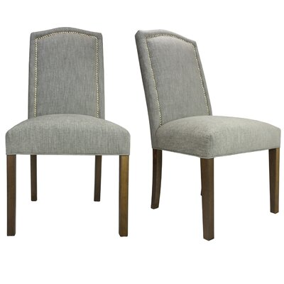 Vaughn Side Chair Finish: Walnut, Upholstery: Platinum