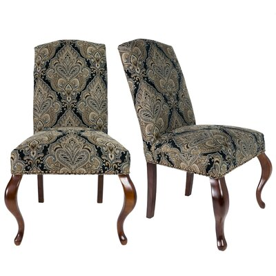 Queen Ann Spring Upholstered Side Chair