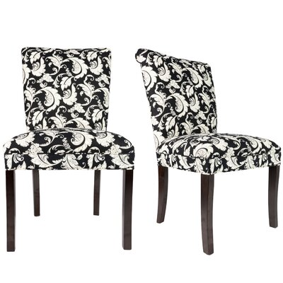 Roll Back Spring Upholstered Side Chair