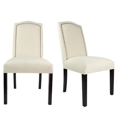 Shelton Upholstered Contemporary Parsons Chair Upholstery: Ivory Off White