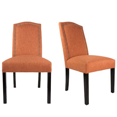 Shelton Upholstered Contemporary Parsons Chair Upholstery: Terracotta Orange