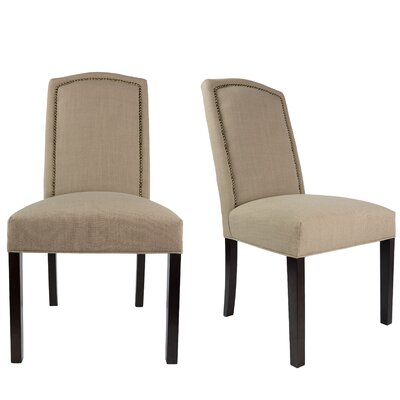 Shelton Upholstered Contemporary Parsons Chair Uphostery: Pebble