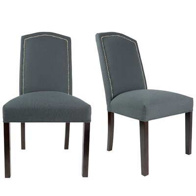 Shelton Upholstered Contemporary Parsons Chair Upholstery: Charcoal Gray