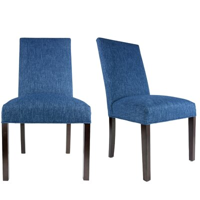 Lloyd Upholstered Contemporary Parsons Chair Upholstery: Denim Blue