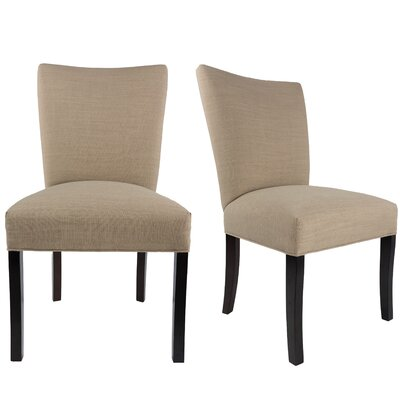 Tatianna Upholstered Contemporary Parsons Chair Upholstery: Pebble