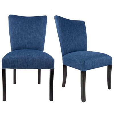 Tatianna Upholstered Contemporary Parsons Chair Upholstery: Denim Blue
