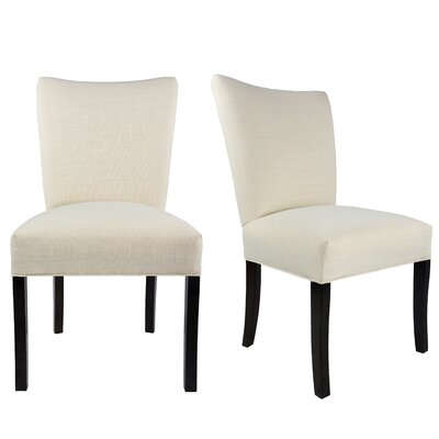 Tatianna Upholstered Contemporary Parsons Chair Upholstery: Ivory Off White