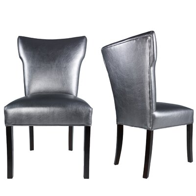 Cresson Vinyl Upholstered Contemporary Side Chair Uphostery: Pewter