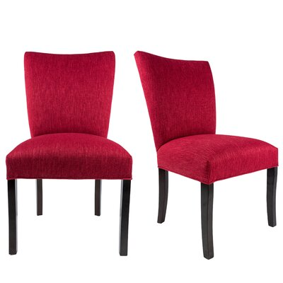 Tatianna Upholstered Contemporary Parsons Chair Upholstery: Ruby Red
