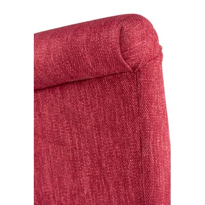 Barcelona Upholstered Parsons Chair in Espresso Upholstery: Ruby Red