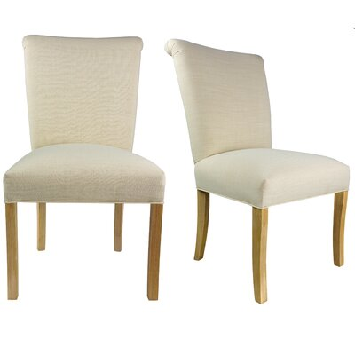 Barcelona Upholstered Parsons Chair Upholstery: Ivory Off White