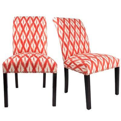 Francesca Curve Back Upholstered Parsons Chair Upholstery: Dark Orange