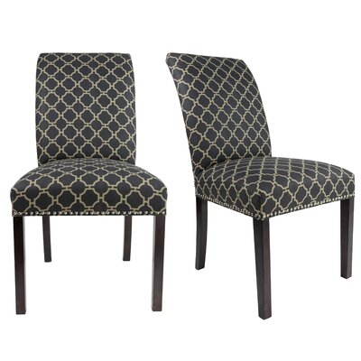 Francesca Curve Back Upholstered Parsons Chair Upholstery: Graphite Black