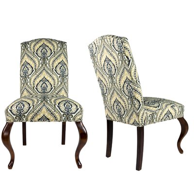 SL3003 Camelback Upholstered Parsons Chair