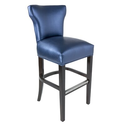 Cresson 31 Bar Stool Upholstery: Blue