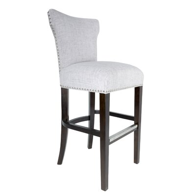 Dougherty 31 Bar Stool Upholstery: Silver