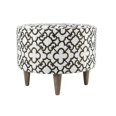 Muhammad Ottoman Upholstery: Black Bronze - Beige
