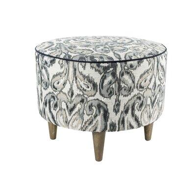 Muhammad Round Ottoman Upholstery: Wedgewood