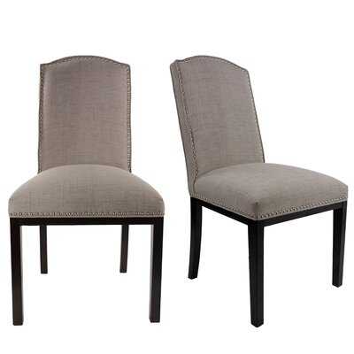 Harpole Upholstered Wood Dining Chair Upholstery Color: Cafe