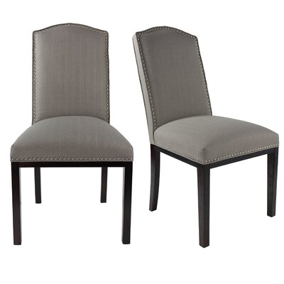Harpole Upholstered Dining Chair Upholstery Color: Dolphin