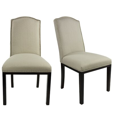 Harpole Upholstered Dining Chair Upholstery Color: Mouse