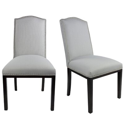 Harpole Upholstered Dining Chair Upholstery Color: Platinum