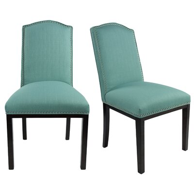 Harpole Upholstered Dining Chair Upholstery Color: Lagoon