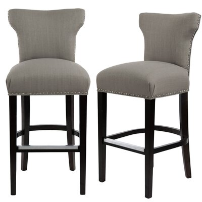 Dougherty 31 Bar Stool Upholstery: Dolphin