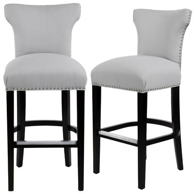 Dougherty 31 Bar Stool Upholstery: Platinum