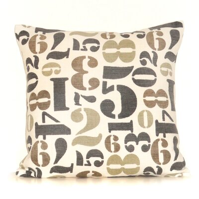 Numbers Cotton Throw Pillow