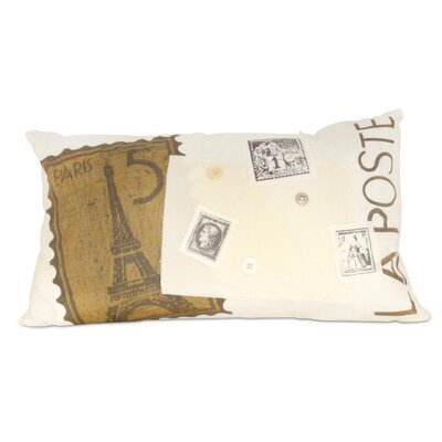 La Poste Paris Cotton Throw Pillow