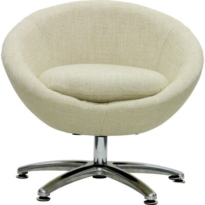 Overman Five Prong Base Astro Barrel Chair Upholstery: Oatmeal