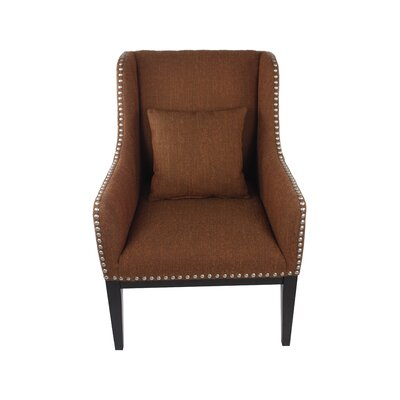 Hansen Lounge Chair Color: Grassroots Currant