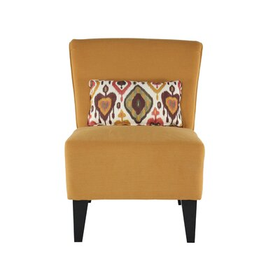 Langford Slipper Chair Color: Poppins Butternut