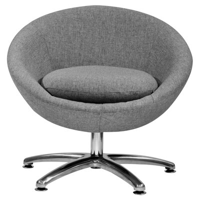 Overman Five Prong Base Astro Barrel Chair Upholstery: Light Gray