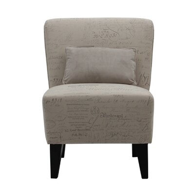 Langford Armless Slipper Chair with Pillow