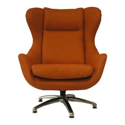 Commander Wing back Chair Color: Citrus
