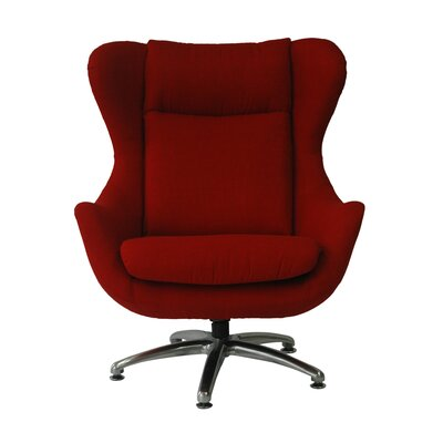 Commander Wing back Chair Upholstery: Cherry