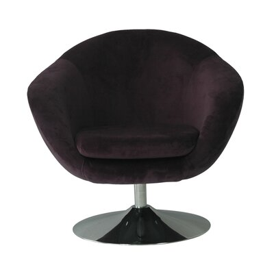 Comet Disc Base Bella Barrel Chair Upholstery: Aubergine