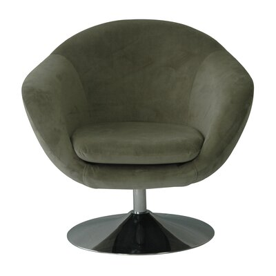 Comet Disc Base Bella Barrel Chair Upholstery: Storm