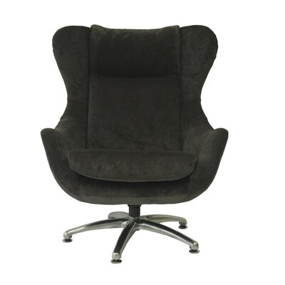 Commander Wing back Chair Upholstery: Blackberry