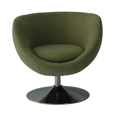Globus Disc Base Barrel Chair Color: Kiwi